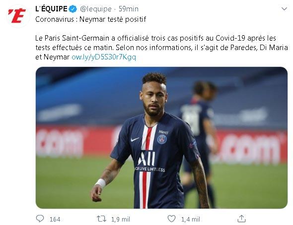 PSG COVID-19 Neymar