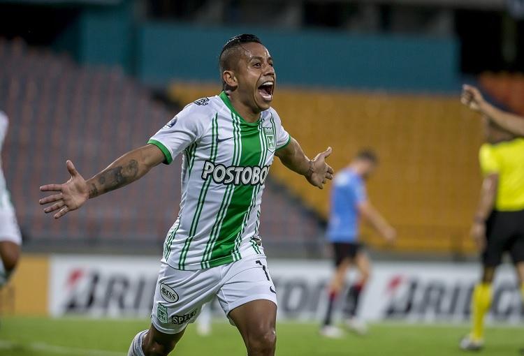 Celebración gol, Vladimir Hernández, Copa Sudamericana, Atlético Nacional
