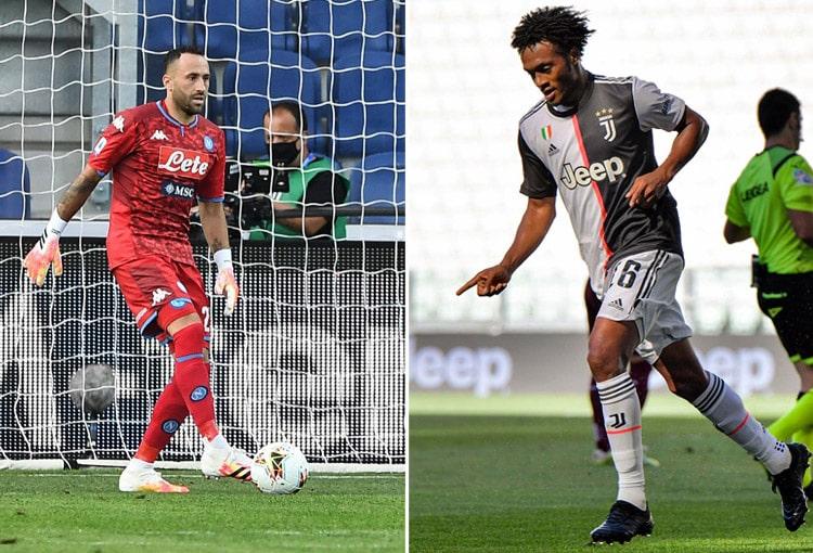 David Ospina, Juan Guillermo Cuadrado, Juventus FC, SSC Napoli, Serie A 2020-21
