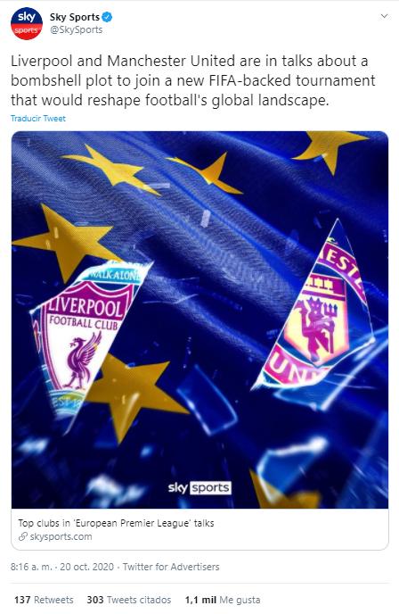 European Premier League, Sky News