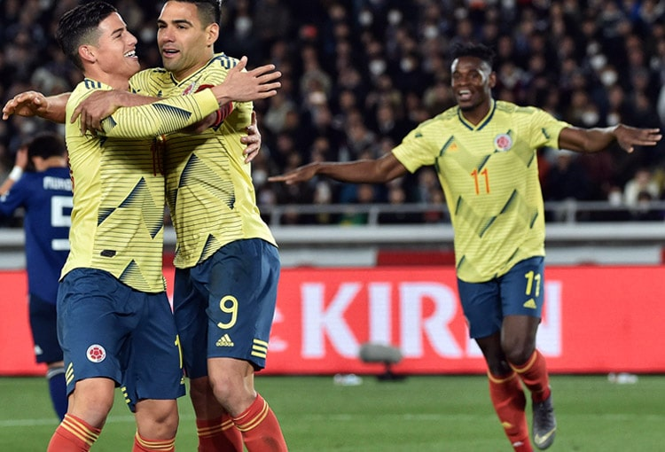 Falcao García, James Rodríguez, Duván Zapata, Selección Colombia, Eliminatorias Sudamericana a Qatar 2022, Mundial de Fútbol Qatar 2022