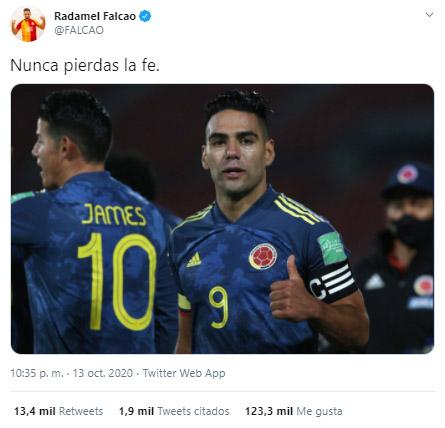 Falcao García, reacción, Selección Colombia, Selección de Chile, Eliminatorias Sudamericanas al Mundial de Fútbol Qatar 2022, Eliminatorias Sudamericanas Qatar 2022 (2)