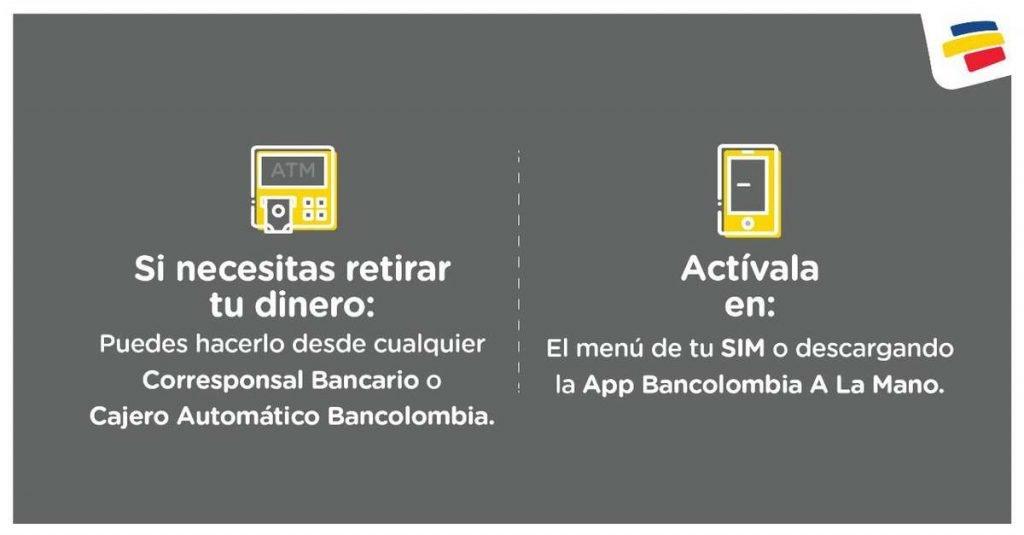 Ingreso Solidario: Saldo y cobro en Bancolombia A La Mano