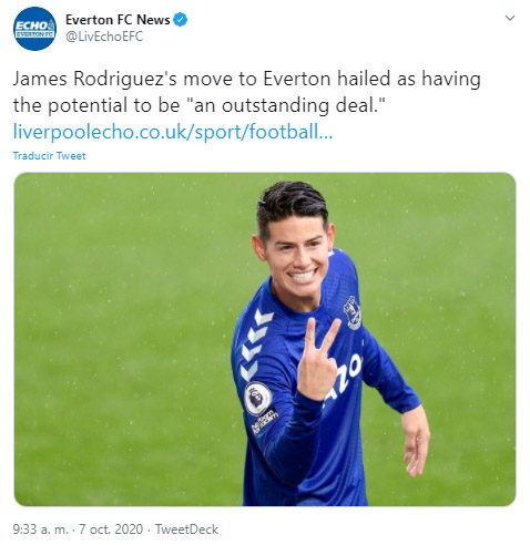James Rodríguez, Everton FC, Premier League 2020-21, Liverpool Echo