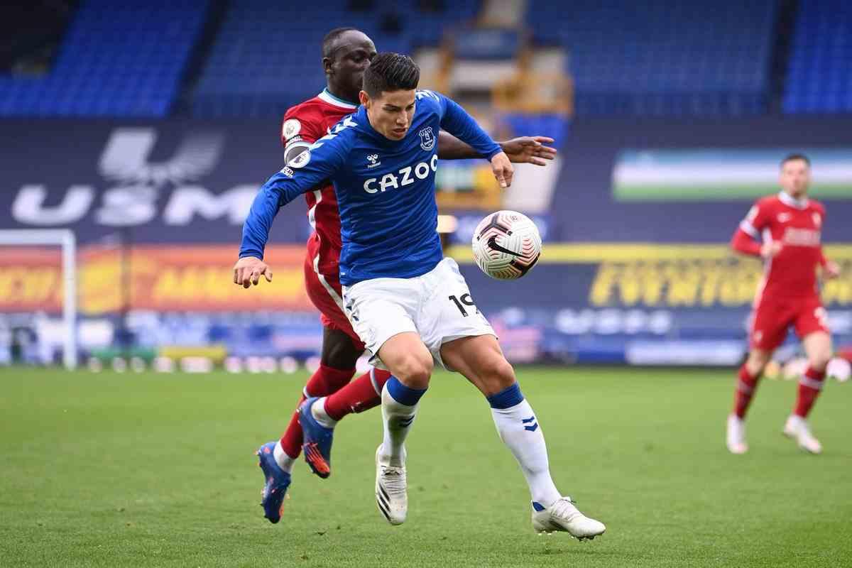James Rodríguez, el mejor jugador del Everton