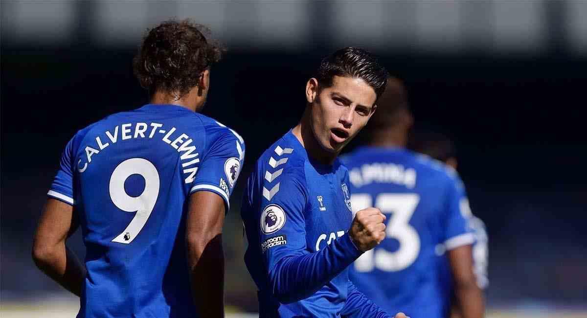¡Golazo de James Rodríguez a Leicester City en la Premier League!