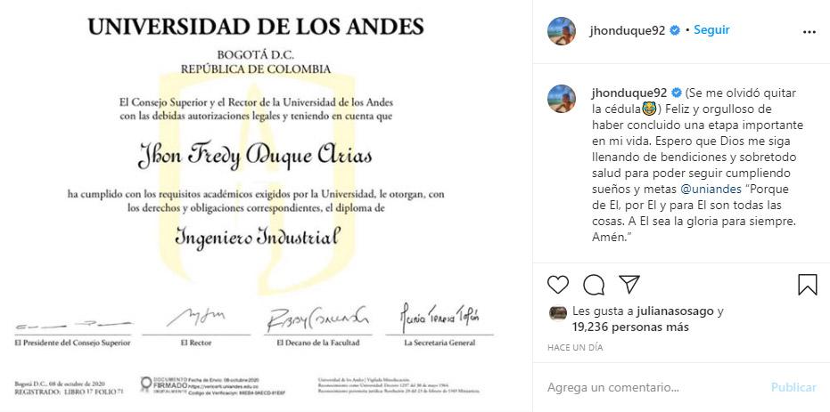 Jhon Duque, Millonarios FC, Liga BetPlay 2020-I, último gran logro (2)