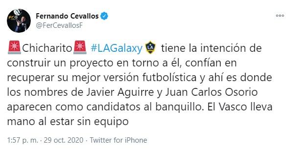 Juan Carlos Osorio, Fernando Cevallos, Los Angeles Galaxy