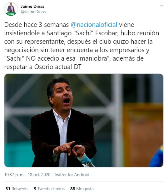 Juan Carlos Osorio, Santiago Escobar, Atlético Nacional, Jaime Dinas (2)
