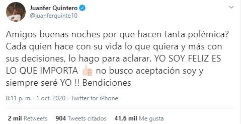 Juan Fernando Quintero, River Plate, Selección Colombia, Eliminatorias Sudamericanas Qatar 2020, reacción