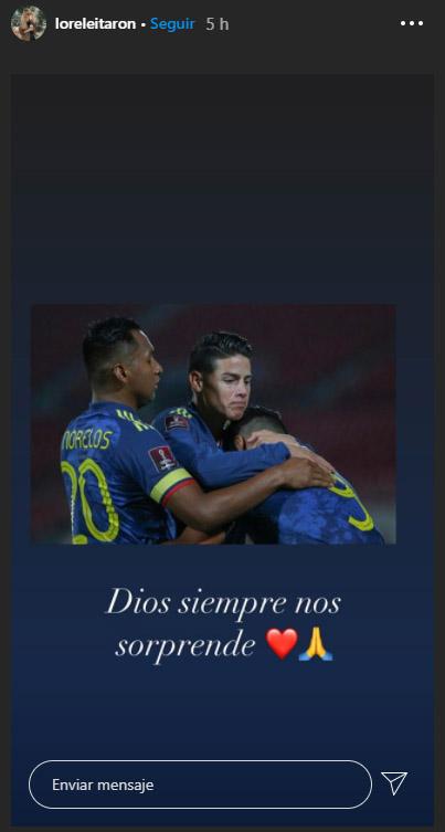 Lorelei Tarón, dedicatoria, Falcao García, Selección Colombia, Selección de Chile, Eliminatorias Sudamericanas al Mundial de Fútbol Qatar 2022, Eliminatorias Sudamericanas Qatar 2022