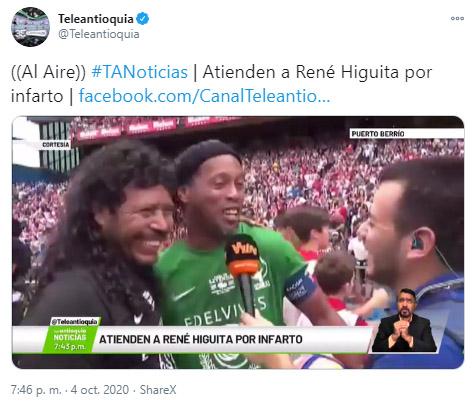 René Higuita, Atlético Nacional, Selección Colombia, Teleantioquia