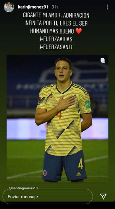 Santiago Arias, Karin Jiménez, Selección Colombia, Selección de Venezuela, Eliminatorias a Qatar 2022, lesión 1