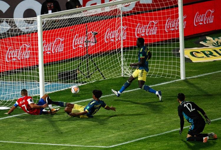 Selección Colombia, Selección de Chile, Eliminatorias Sudamericanas al Mundial de Fútbol Qatar 2022, Eliminatorias Sudamericanas a Qatar 2022