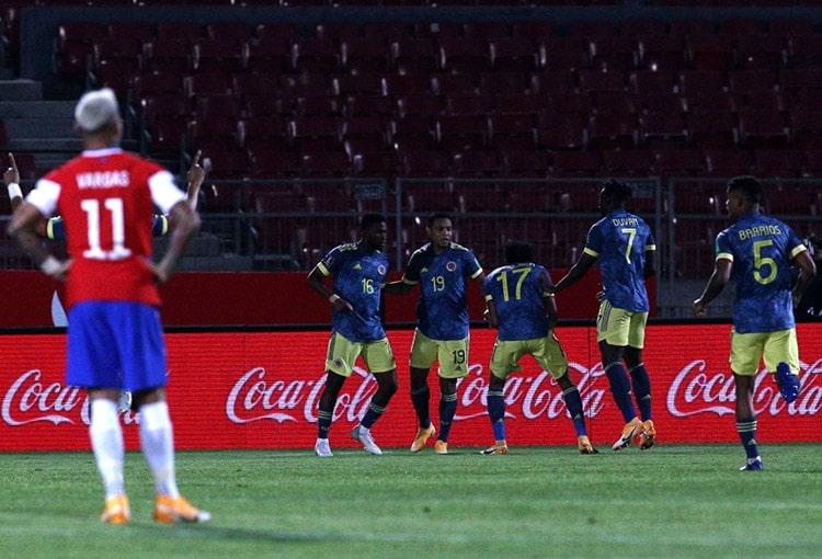 Selección de Chile 2-2 Selección Colombia, Eliminatorias Sudamericanas al Mundial de Fútbol Qatar 2022, Eliminatorias Sudamericanas Qatar 2022 (1)
