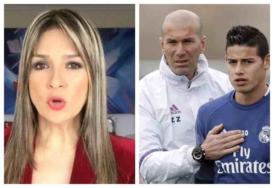 Vicky Dávila se despachó contra Zidane y defiende a James