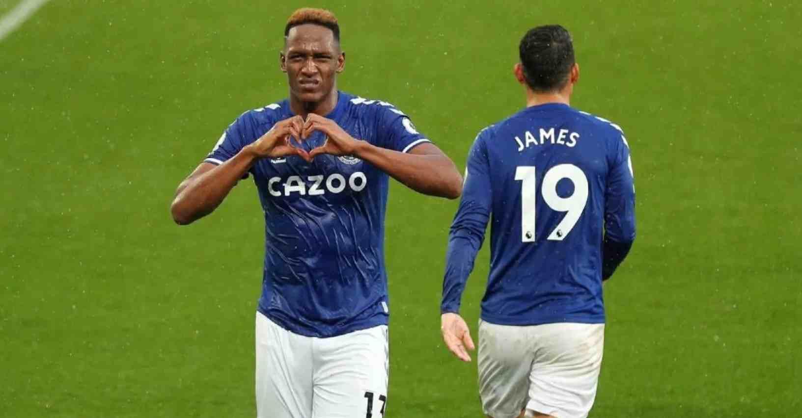 Yerry Mina y su felicidad por compartir con James Rodríguez en Everton