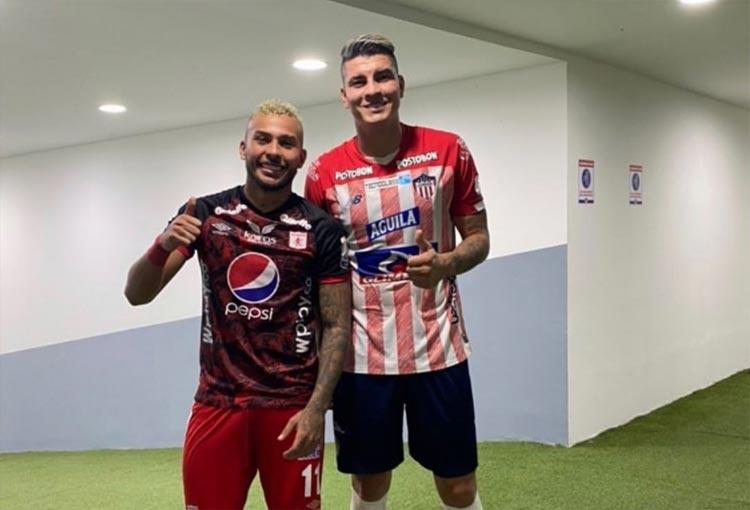 Duván Vergara y Michael Rangel tras el Junior vs. América de Cali