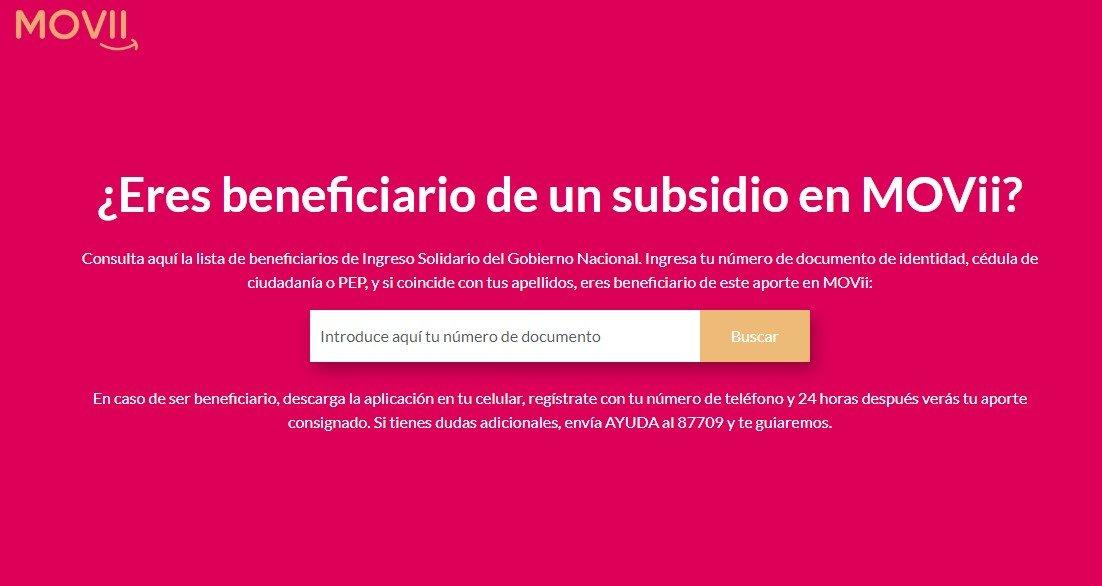 Consulte si está en la lista de beneficiarios del Ingreso Solidario en MOVii