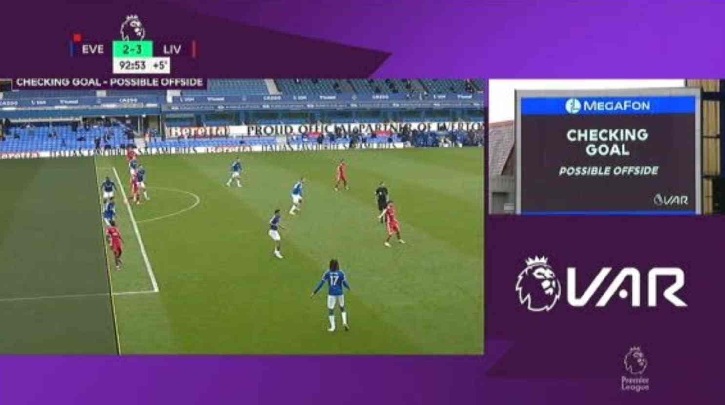 El VAR hizo la polémica en el Everton 2 – 2 Liverpool