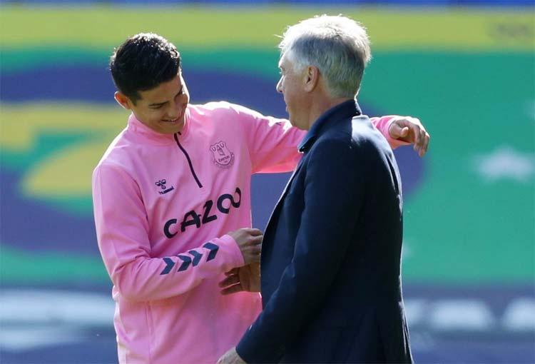 Carlo Ancelotti y la razón por la que James Rodríguez mejorará en Everton