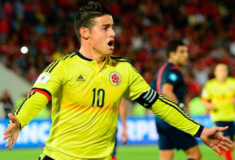 James Rodríguez y su récord en Chile con la Selección Colombia