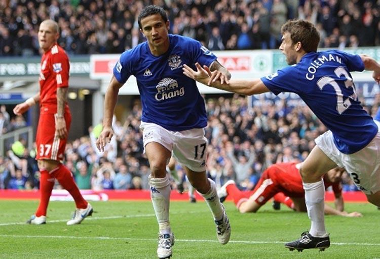 ¿Dónde estaba James Rodríguez la última vez que Everton venció a Liverpool?
