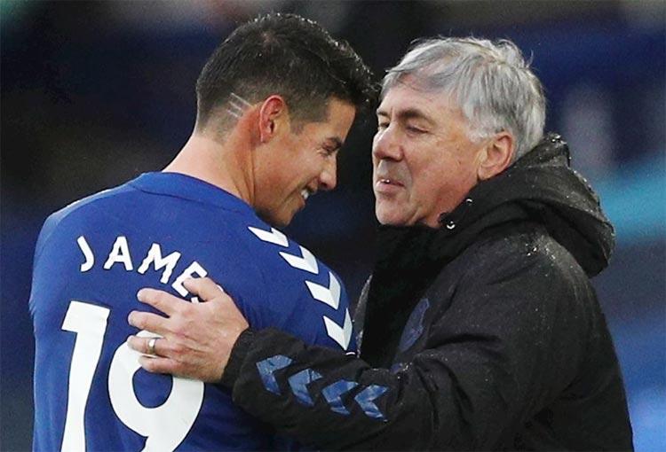 Carlo Ancelotti volvió a hablar maravillas de su consentido James Rodríguez