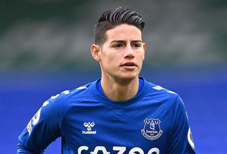 ¡Otro increíble registro de James Rodríguez en Everton!