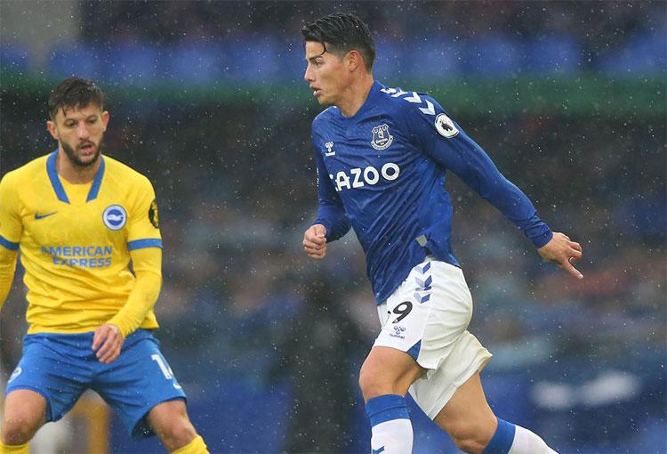Exjugador del Everton comparó a James Rodríguez con Rooney