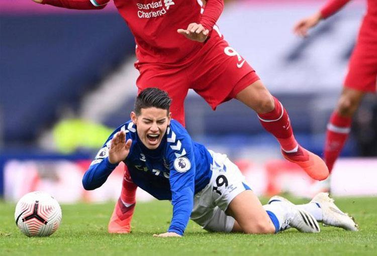 James Rodríguez: primera lesión en Everton y séptima desde el Mundial
