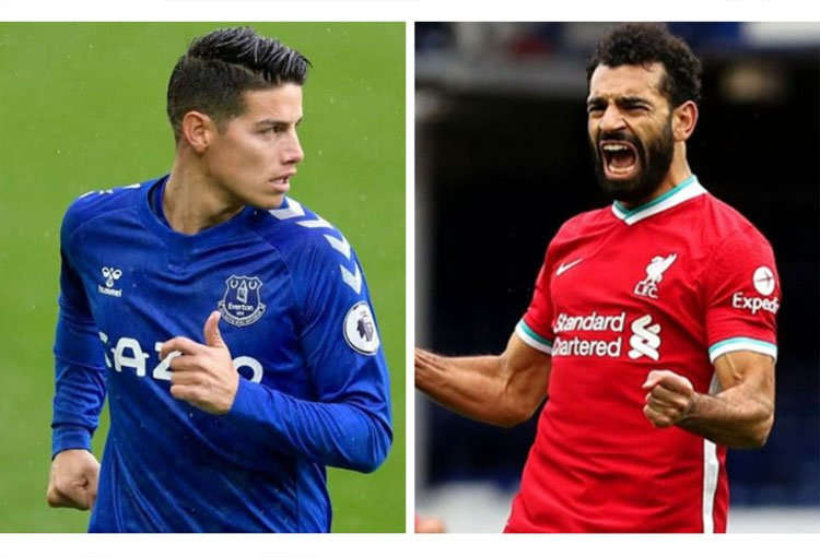James Rodríguez y Mohamed Salah, igualados en estadística de la Premier League