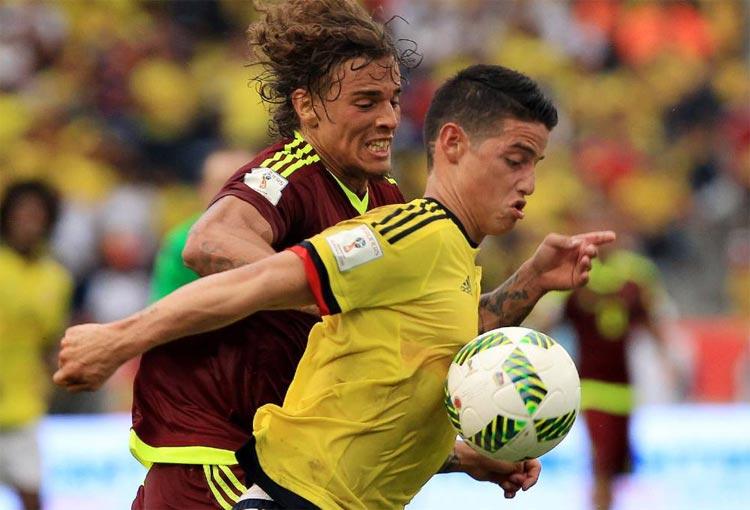 Así le fue a James Rodríguez con la Selección Colombia ante Venezuela