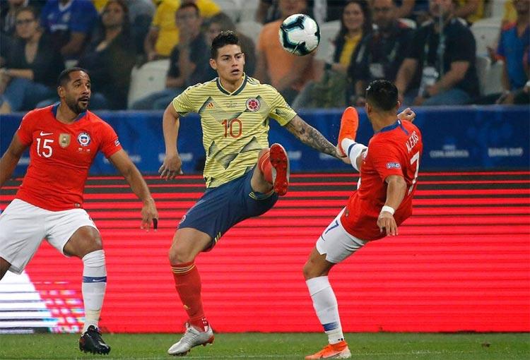 Así le fue a James Rodríguez con la Selección Colombia ante Chile