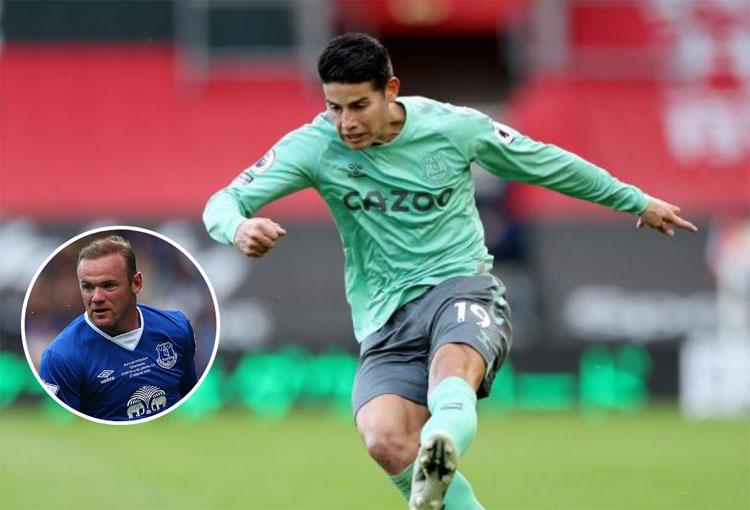 Everton: ¡James Rodríguez recibe elogio de Wayne Rooney!