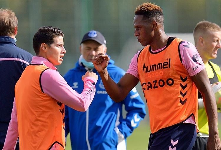 James Rodríguez, Yerry Mina y el último fichaje de Everton