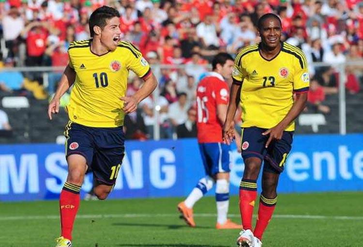 James Rodríguez en Chile: 2 partidos, 2 goles