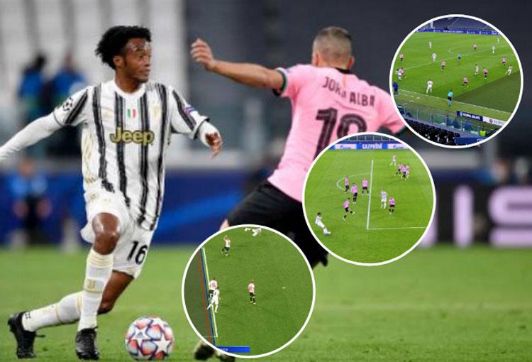 3 asistencias de Cuadrado, 3 goles anulados a Juventus ante el Barcelona