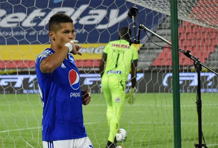 Ayron del Valle: máximo goleador de Millonarios en torneos cortos