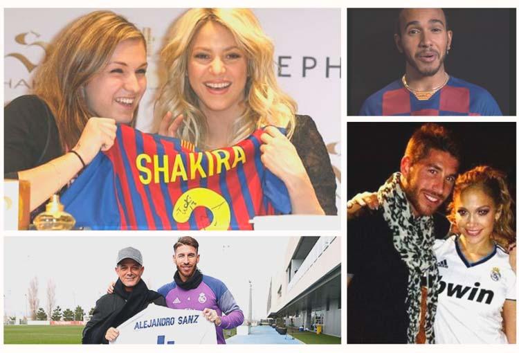 Hinchas famosos de Barcelona y Real Madrid