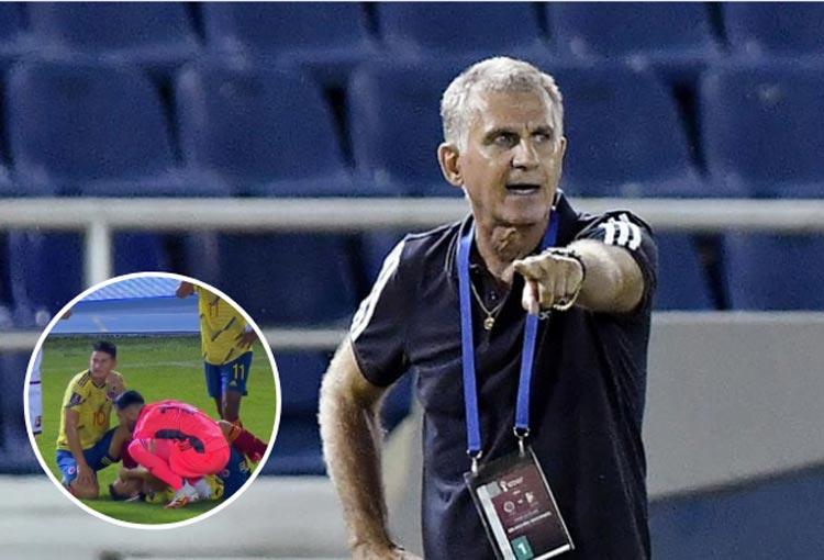 Lo que dijo Carlos Queiroz de la lesión de Santiago Arias