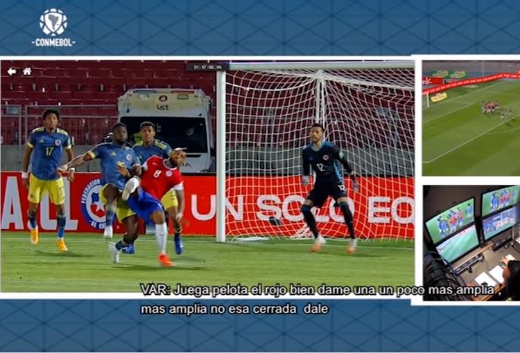 ¡El audio del VAR en el penalti contra la Selección Colombia!