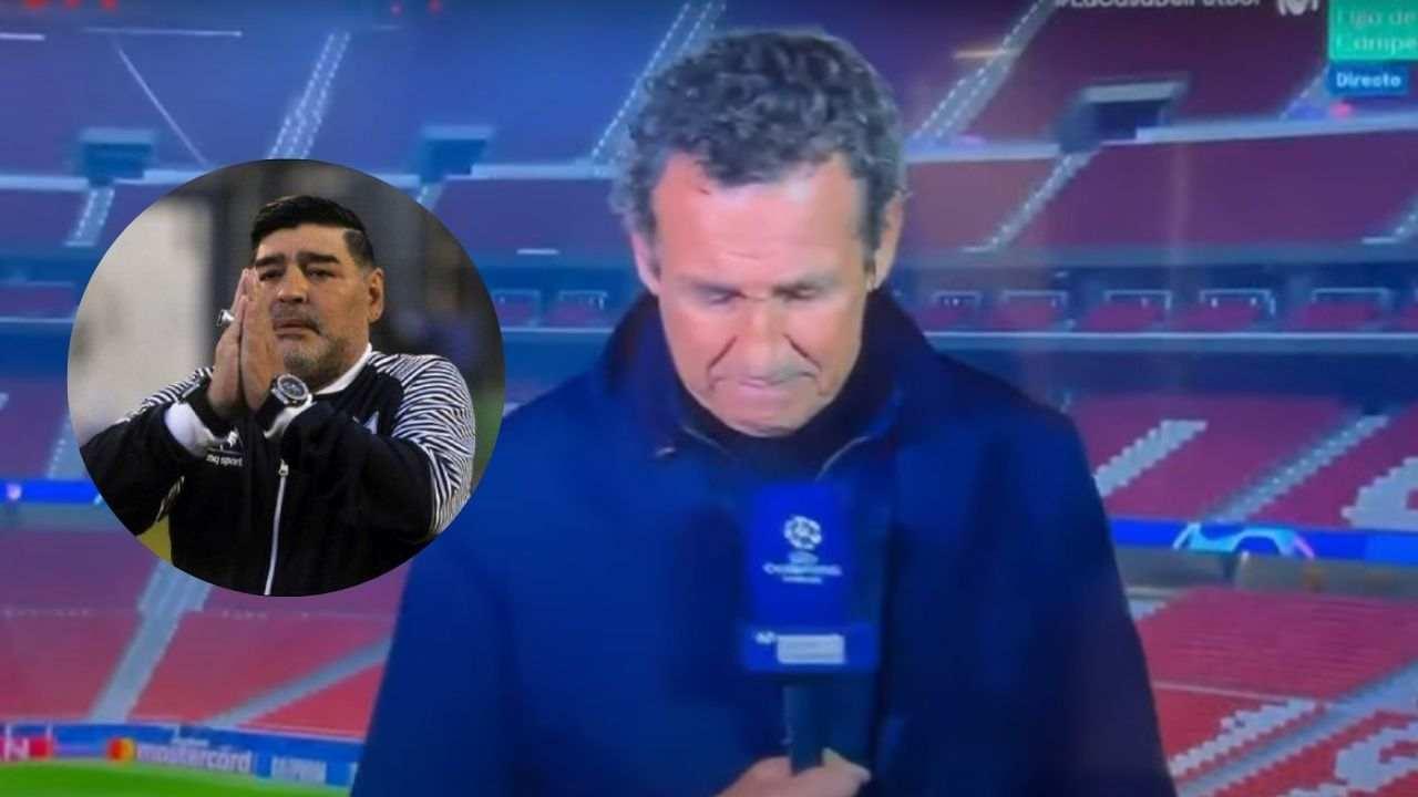¡Al aire! Valdano, entre lágrimas tras la muerte de Maradona