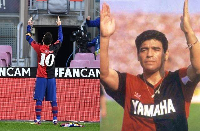 ¡Del 10 para el 10! Conmovedor homenaje de Messi a Maradona
