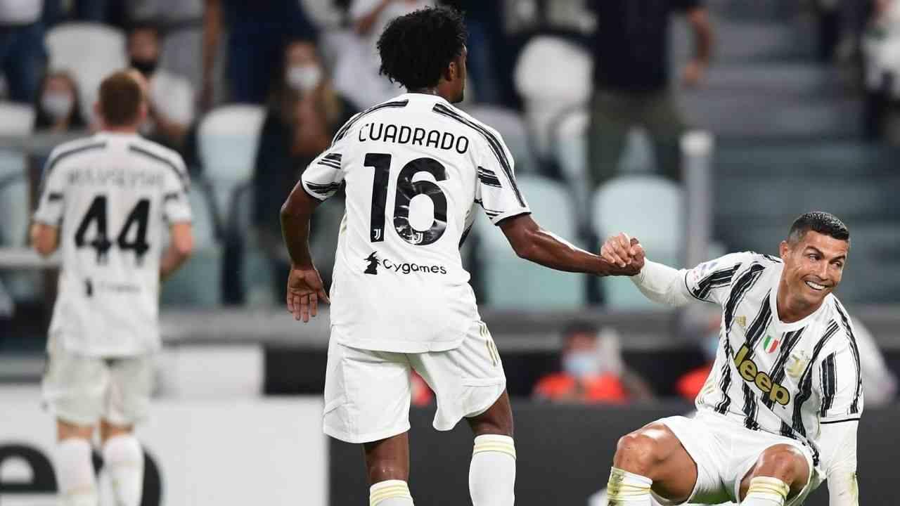 Asistencia de Cuadrado a CR7 para el empate de la Juventus