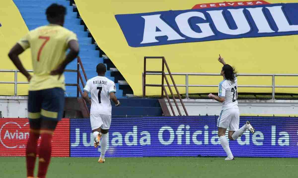Con muy poco, Uruguay le dio un repaso a la Selección Colombia