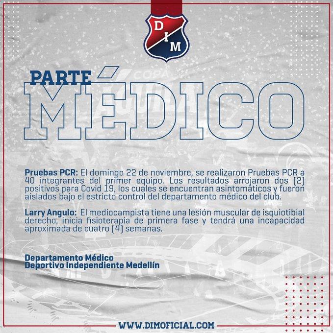 DIM, Deportivo Independiente Medellín, COVID-19, nuevo coronavirus, informe, liguilla Liga BetPlay 2020