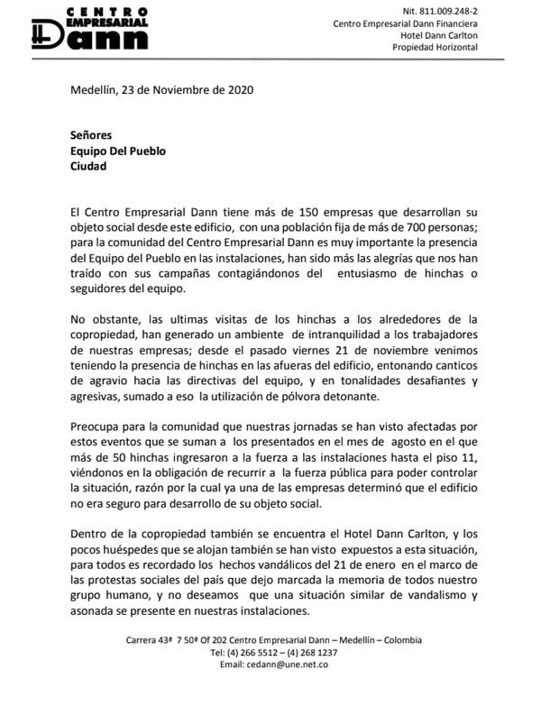 DIM, Deportivo Independiente Medellín, Rexixtenxia Norte, Raúl Giraldo, hotel Dann Carlton (1)