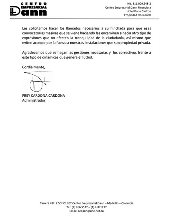 DIM, Deportivo Independiente Medellín, Rexixtenxia Norte, Raúl Giraldo, hotel Dann Carlton (2)