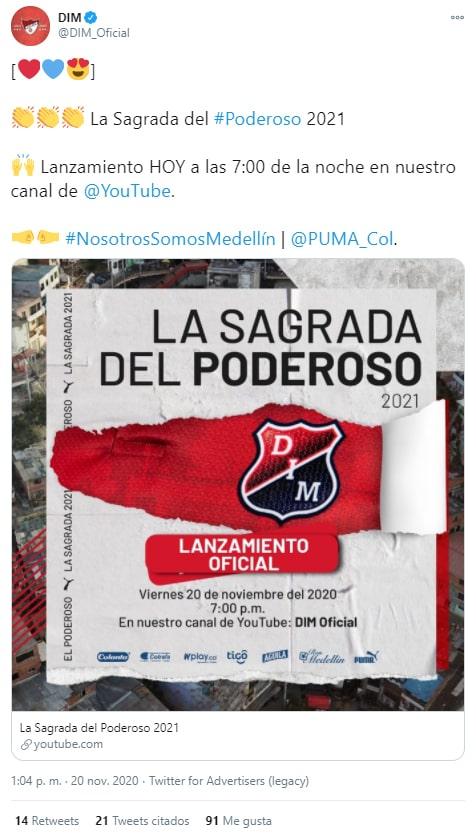DIM, Deportivo Independiente Medellín, nueva camiseta, liguilla, Liga BetPlay 2020